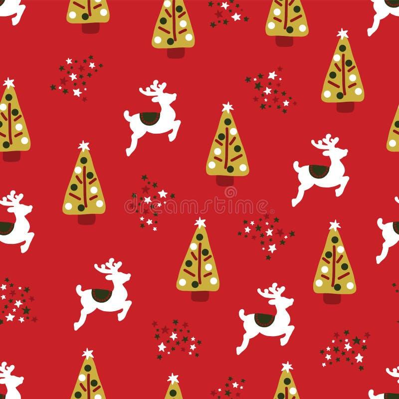 圣诞节假日无缝的重复传染媒介样式 向量例证