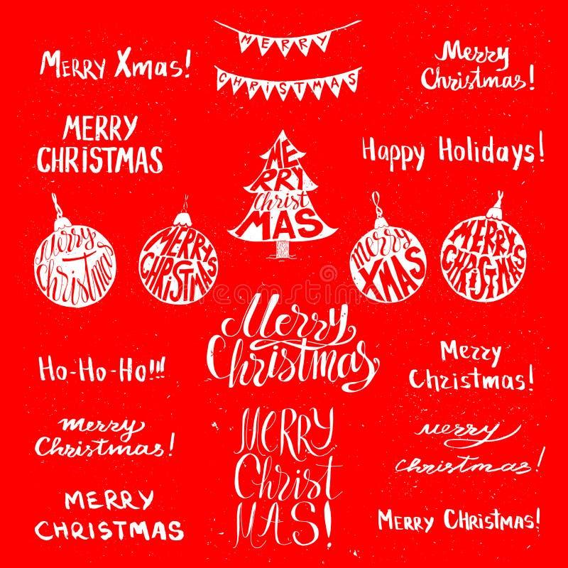 圣诞节假日海报 皇族释放例证