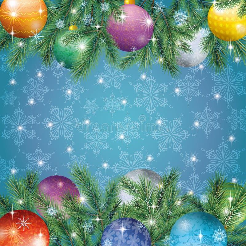 圣诞节假日背景 向量例证
