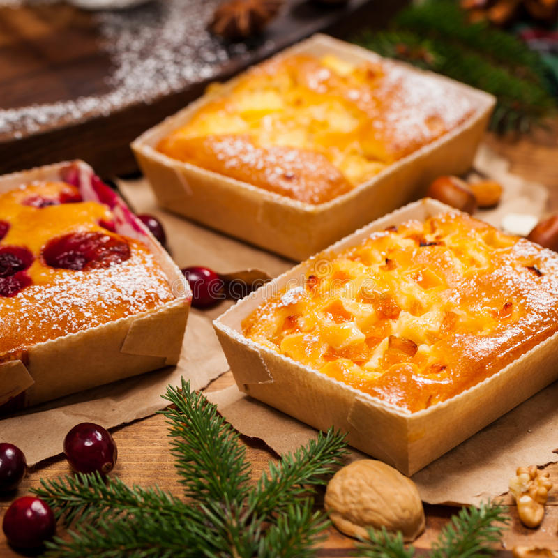 圣诞节假日蛋糕 免版税库存照片