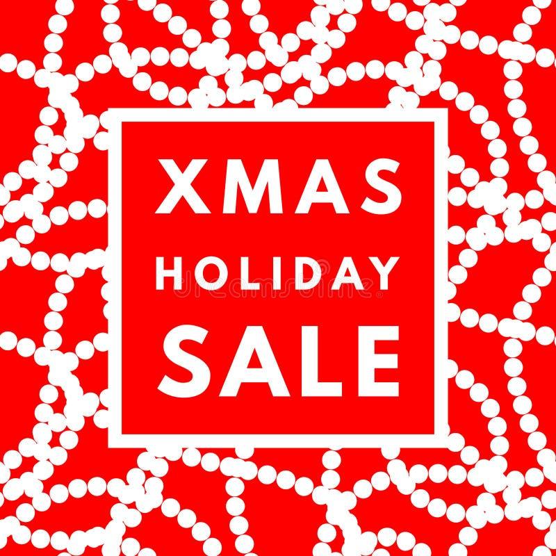 圣诞节假日销售海报 库存例证