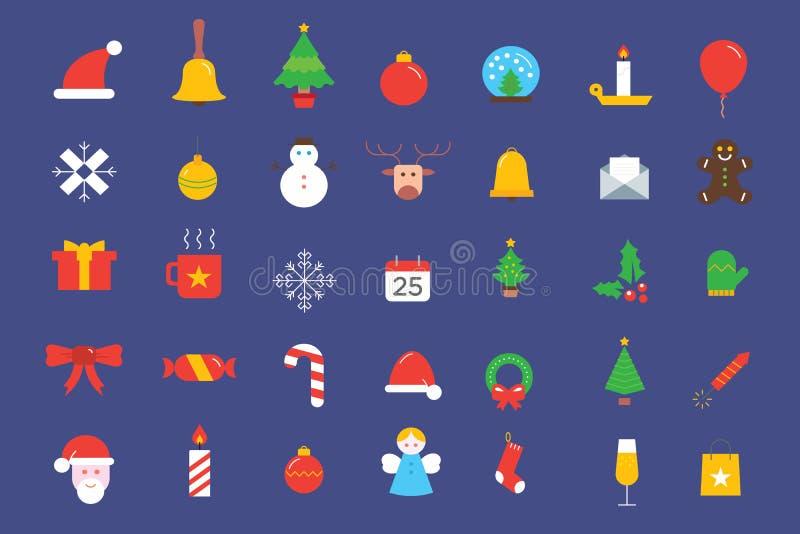 圣诞节元素象汇集 皇族释放例证