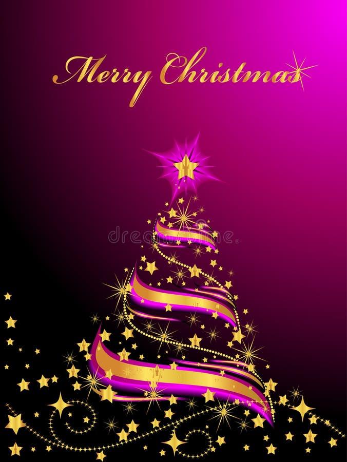 圣诞节光亮的结构树 皇族释放例证