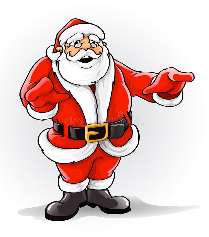 圣诞节克劳斯・圣诞老人唱歌歌曲向量 皇族释放例证
