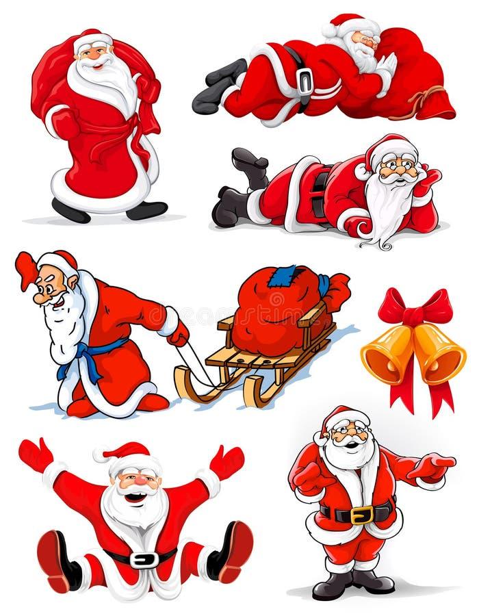 圣诞节克劳斯愉快的例证范例圣诞老人 库存例证