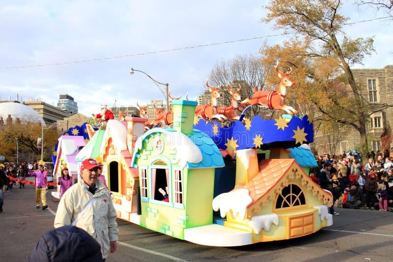 圣诞节克劳斯游行圣诞老人多伦多 免版税库存照片