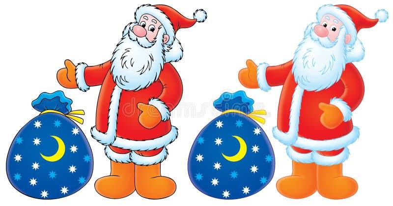 圣诞节克劳斯礼品圣诞老人 库存例证
