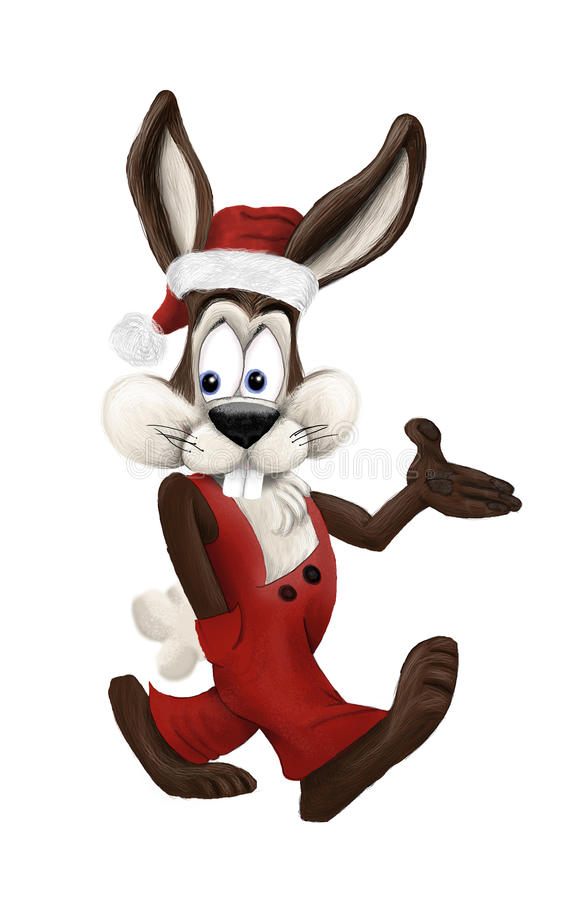 圣诞节兔子 皇族释放例证