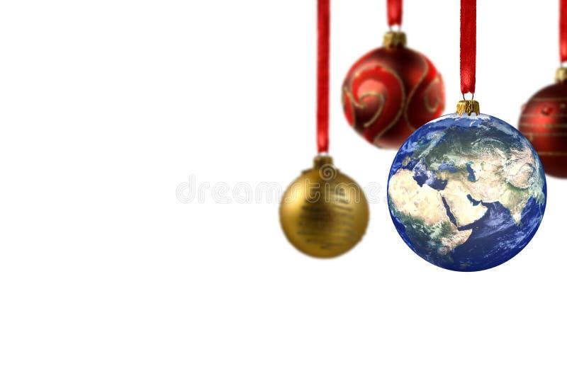 圣诞节全球快活 免版税库存照片