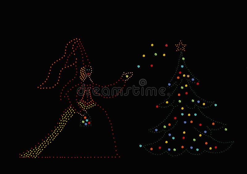 圣诞节公主结构树 库存图片
