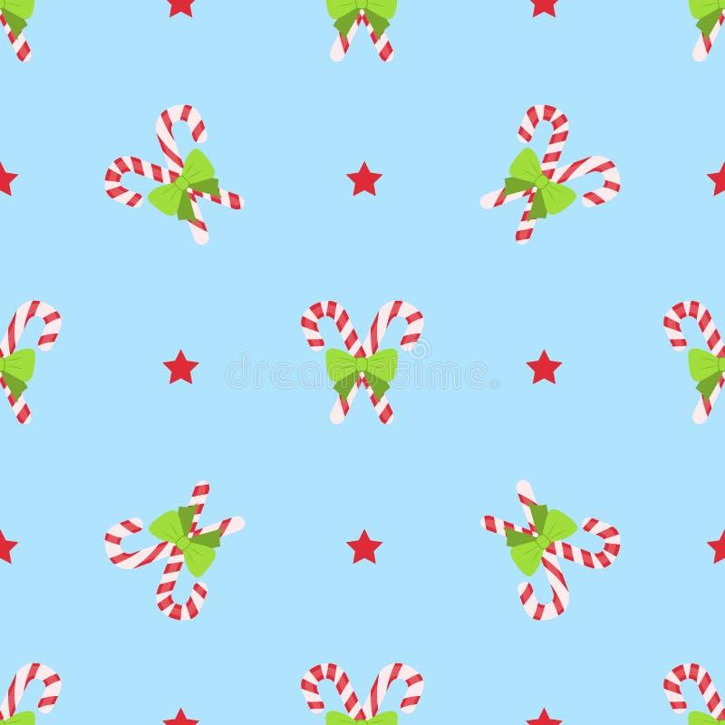 圣诞节冬天无缝的样式 皇族释放例证