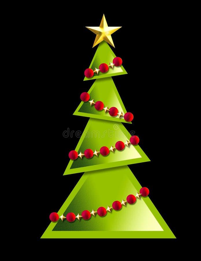 圣诞节几何结构树 向量例证