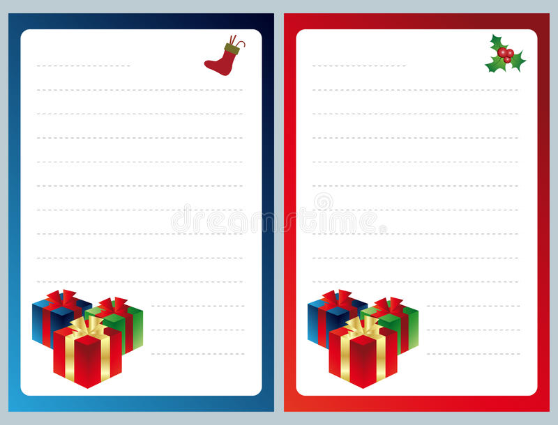 圣诞节列表愿望 库存例证
