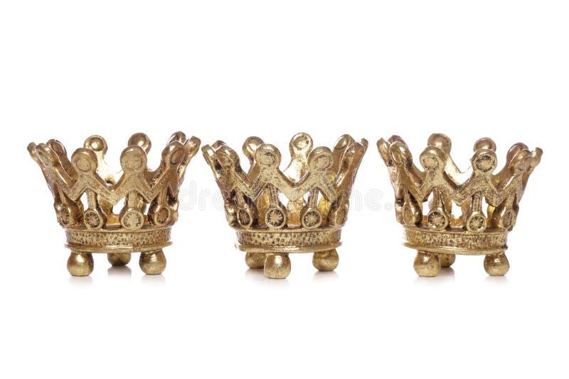 圣诞节加冠装饰三国王 免版税库存照片