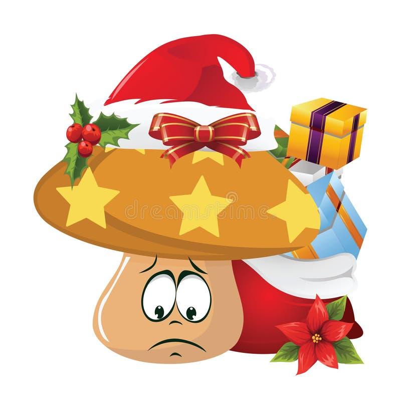 圣诞节动画片面孔情感 免版税库存图片