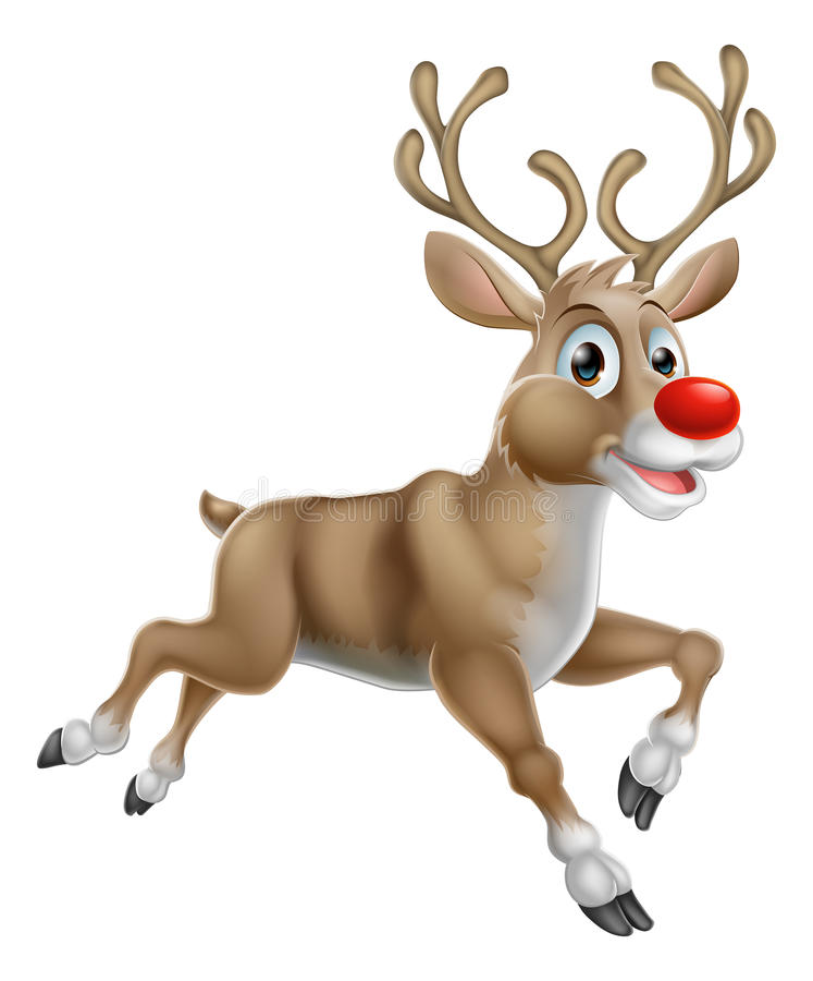 圣诞节动画片驯鹿 皇族释放例证