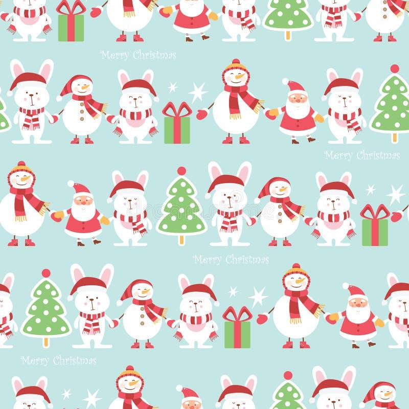 圣诞节包装纸-无缝的纹理 也corel凹道例证向量 皇族释放例证
