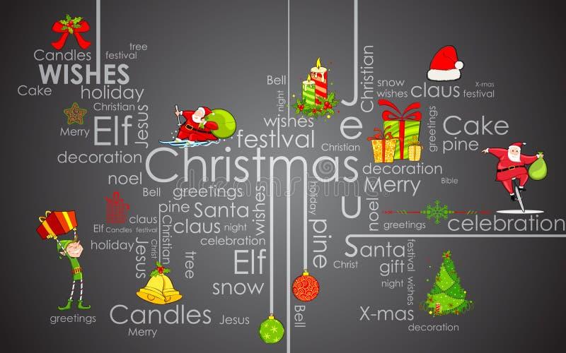 圣诞节印刷术 向量例证