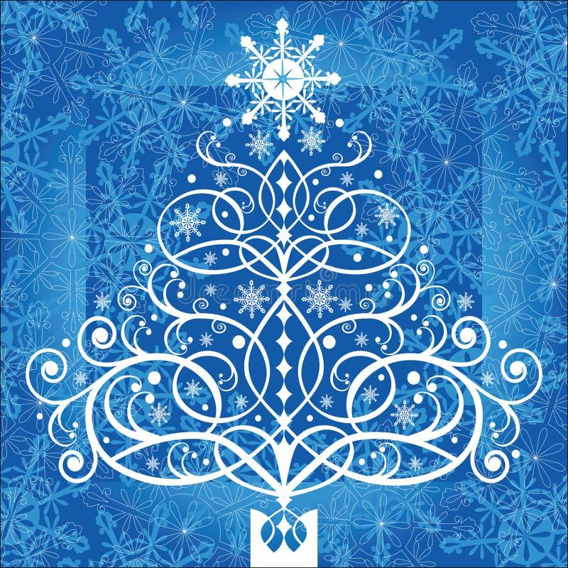 圣诞节卷结构树 向量例证