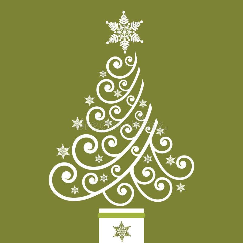 圣诞节卷质朴的结构树 库存例证