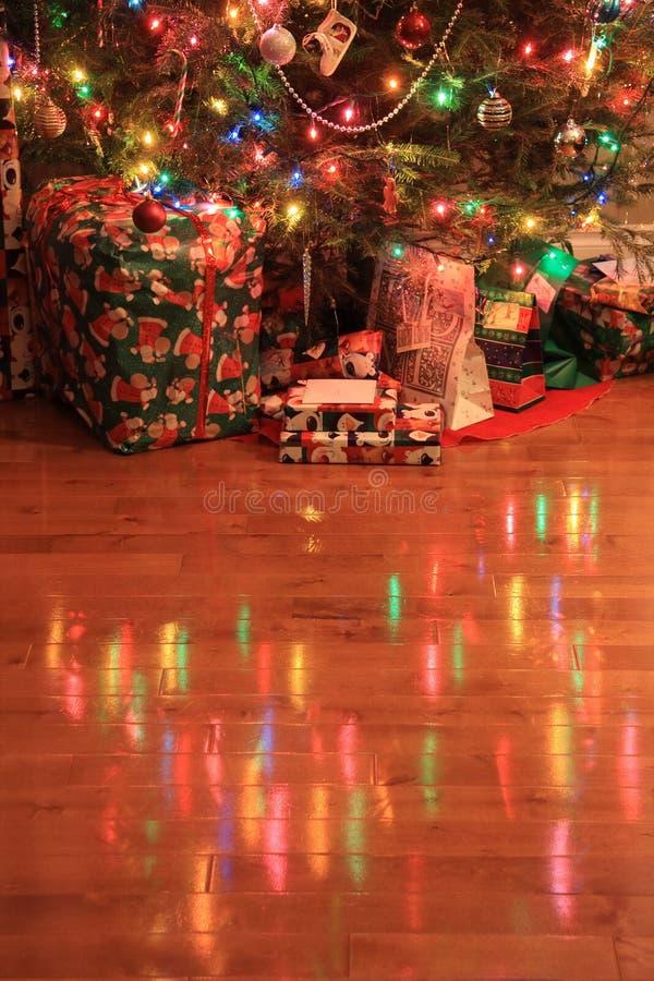 圣诞节反映结构树 免版税库存图片