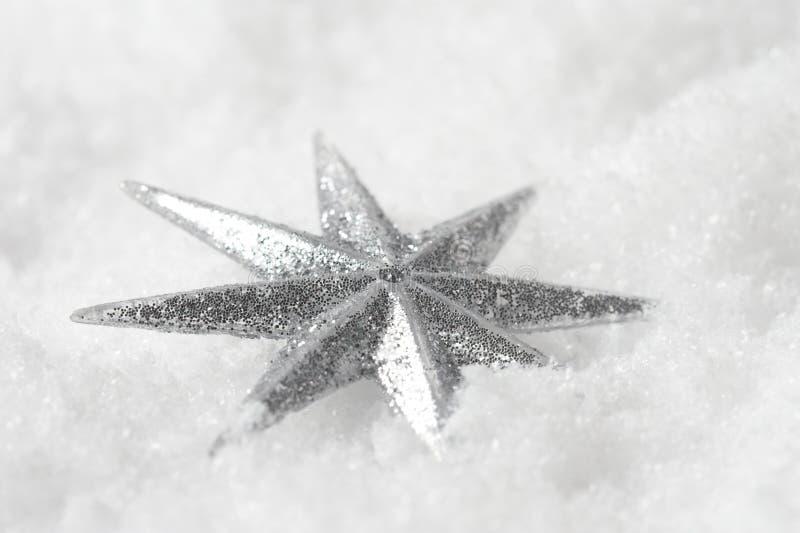 圣诞节发光的星形 免版税库存照片