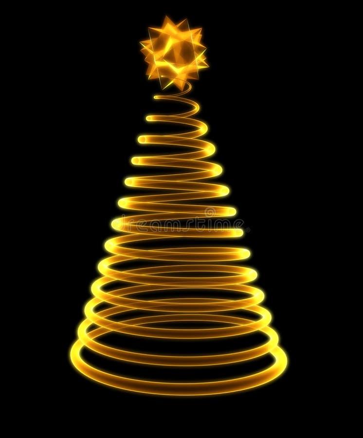 圣诞节发光的结构树 库存例证