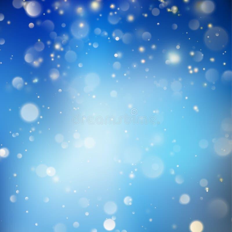 圣诞节发光的蓝色模板 EPS 10向量 皇族释放例证