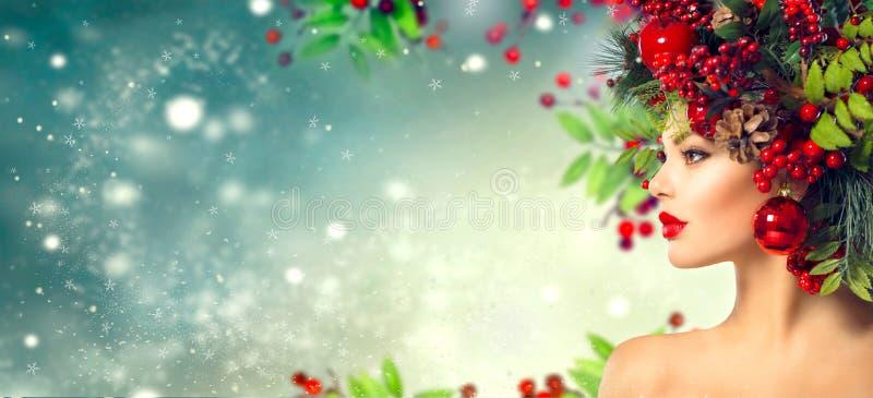 圣诞节发型 假日构成 库存照片