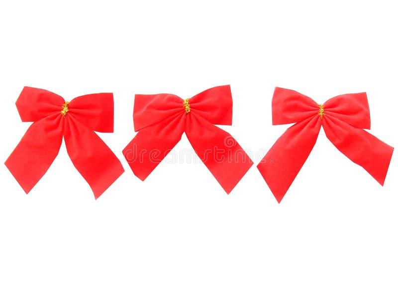 圣诞节另外红色丝带范围 库存照片