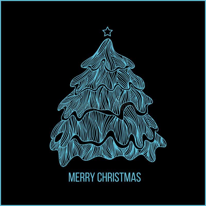 圣诞节和新年字法   向量例证
