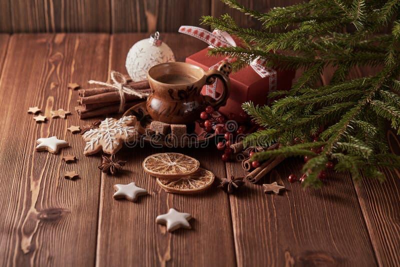 圣诞节和新年构成 免版税图库摄影