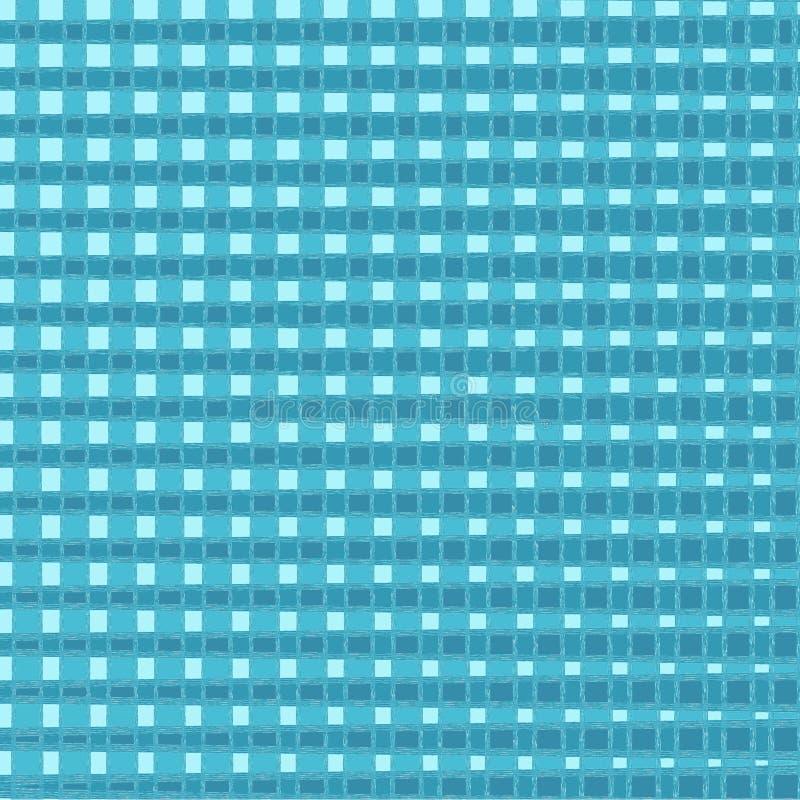 圣诞节和新年格子花 在蓝色和笼子的苏格兰样式 r 方形的背景 织品纹理 ? 皇族释放例证