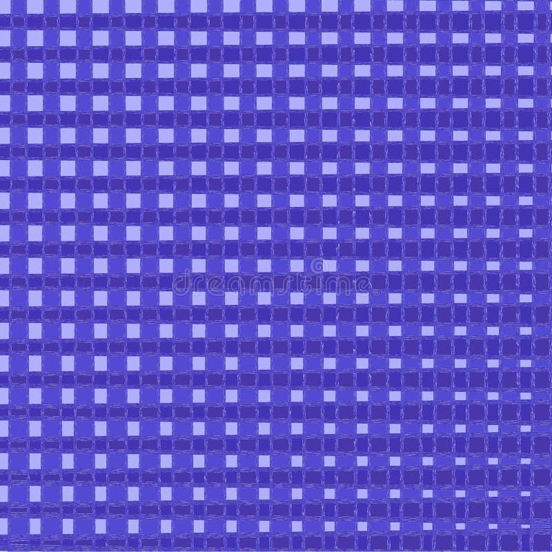 圣诞节和新年格子花 在蓝色和笼子的苏格兰样式 r 方形的背景 织品纹理 ? 库存例证