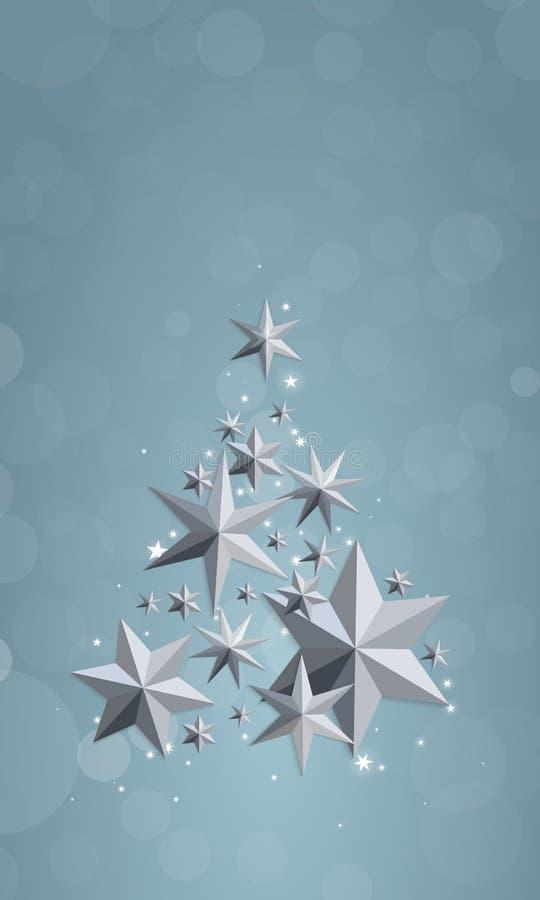圣诞节和新年红色背景 库存例证
