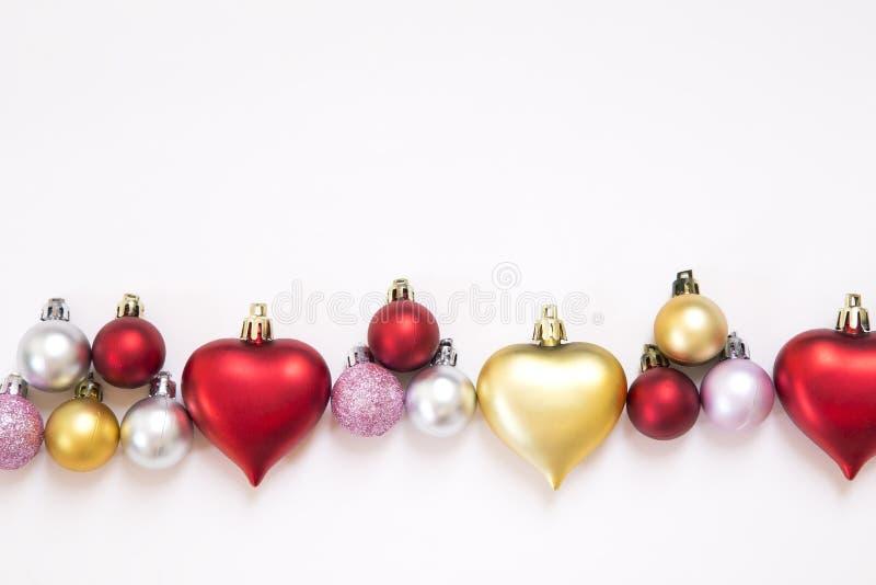 圣诞节和新年装饰品 库存照片