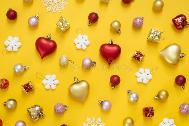 圣诞节和新年装饰品 免版税图库摄影