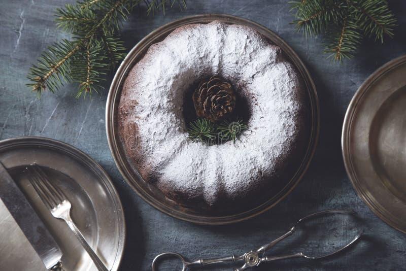 圣诞节和新的年糕 免版税库存图片