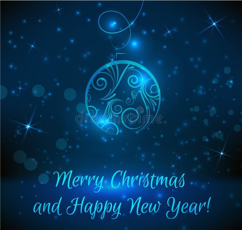 圣诞节和新年贺卡 向量例证