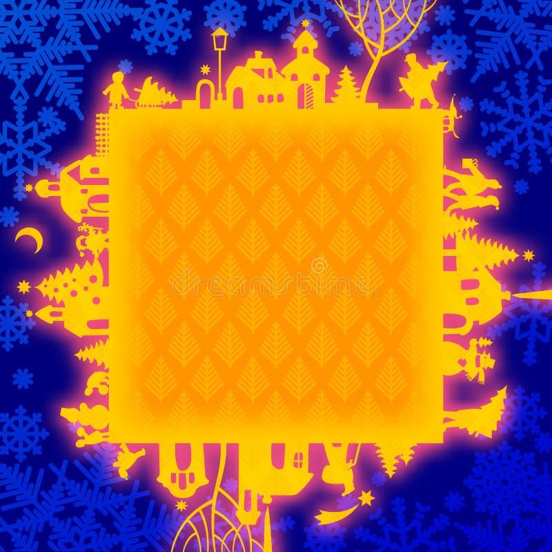 Download 圣诞节和新年的框架 向量例证. 插画 包括有 快乐, 国界的, 圣诞节, 发光, 问候, 看板卡, 结构树 - 62527002