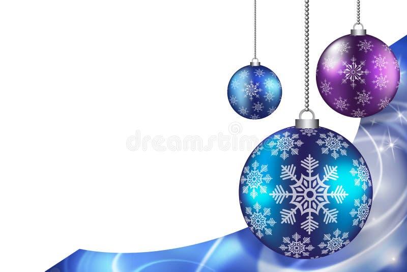 圣诞节和新年装饰 皇族释放例证