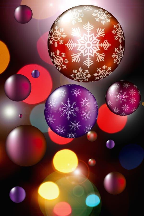 圣诞节和新年装饰 库存例证