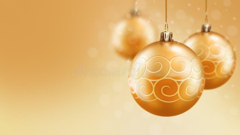 圣诞节和新年金球背景 库存照片