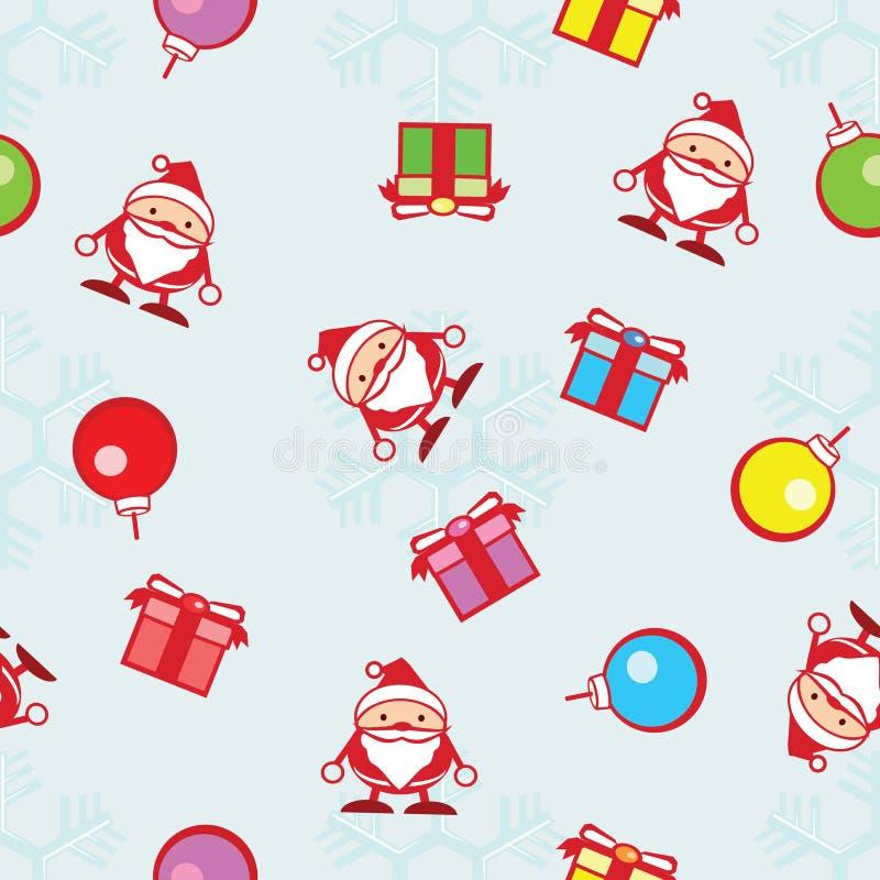 圣诞节和雪花无缝的背景  皇族释放例证