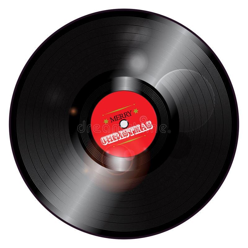 圣诞节唱片 向量例证