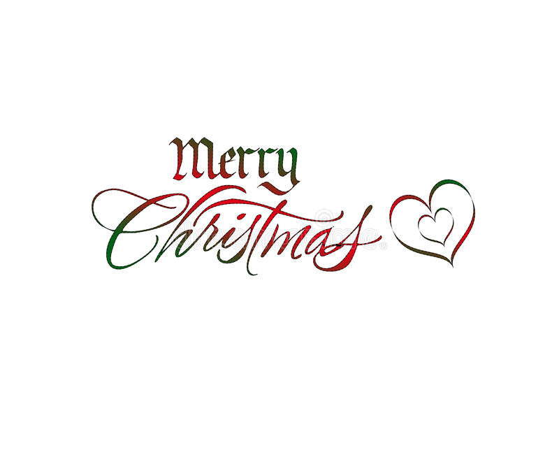 圣诞节商标 向量例证