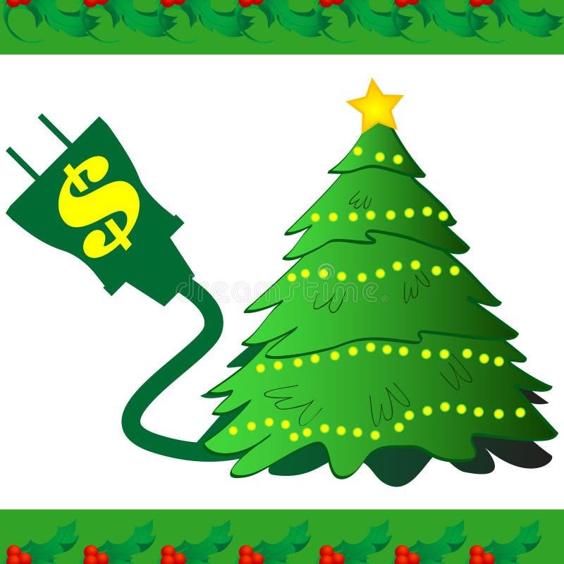 圣诞节图标次幂结构树 皇族释放例证