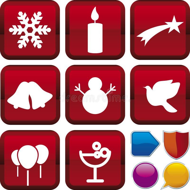 圣诞节图标系列 皇族释放例证