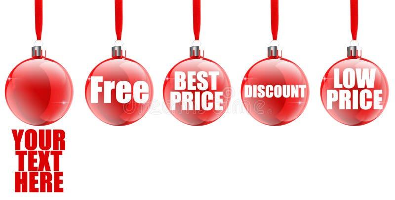 圣诞节图标销售额 向量例证