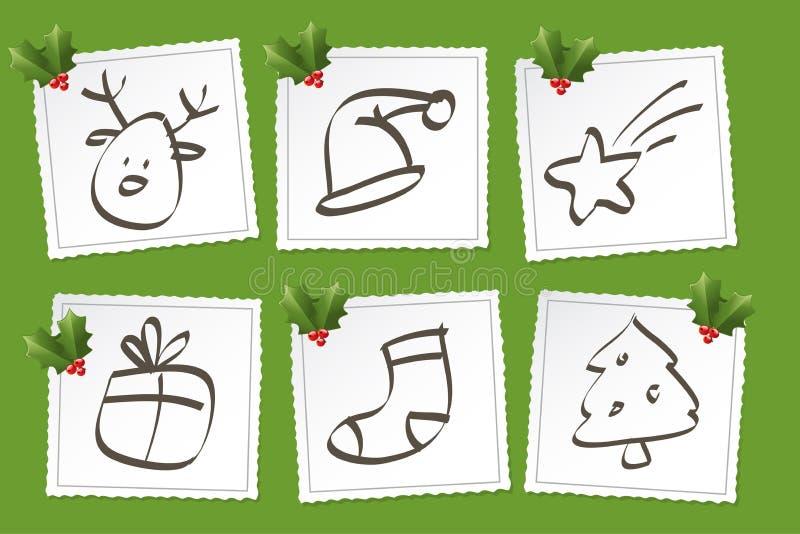 圣诞节图标集 皇族释放例证